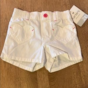 Carter's shorts with heart pockets